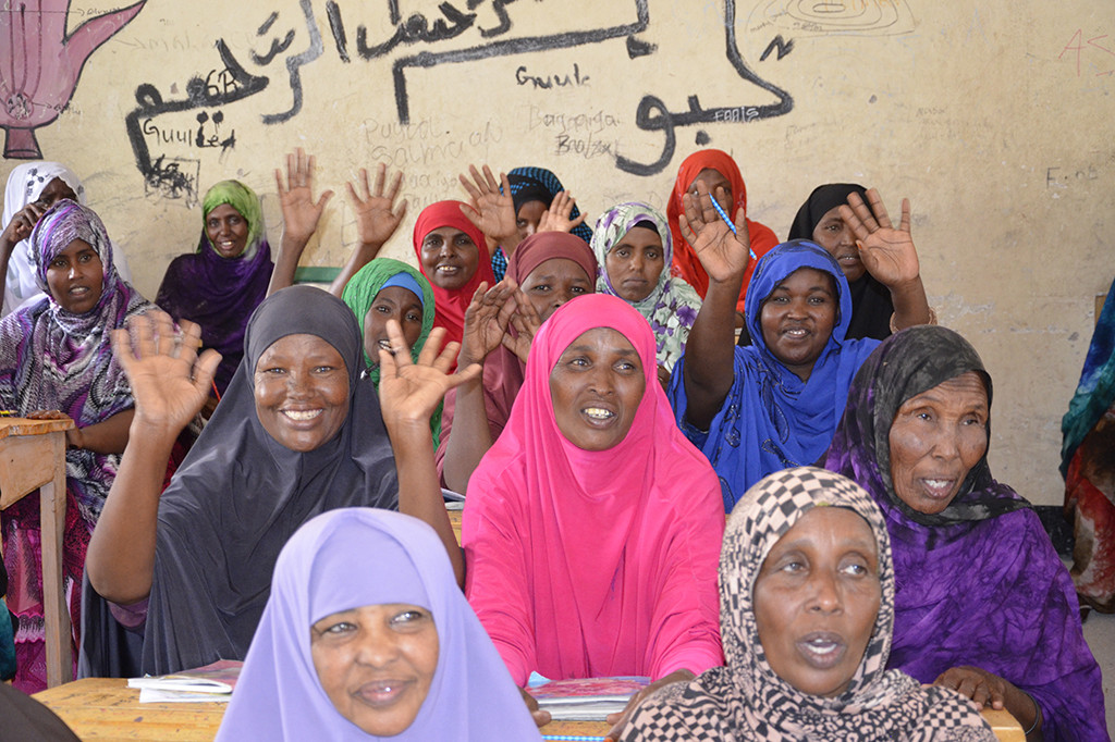 Women group in Somalia learning about human rights
