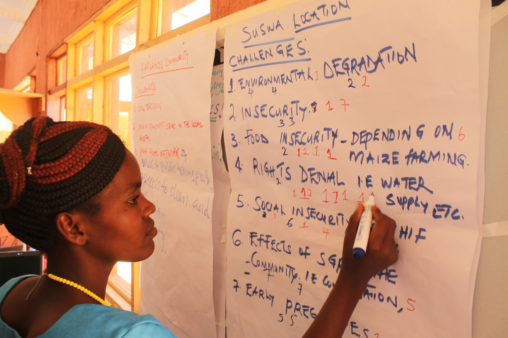 A participant in one of the community trainings in Suswa