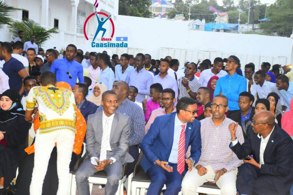 Youth and Women representatives in the Speak up event organized by Ubaxa Caasimada in Mogadishu