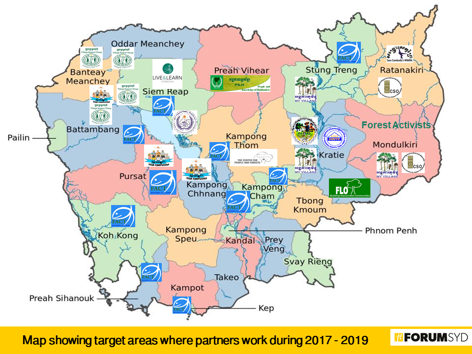 Green Ownership target areas and partners