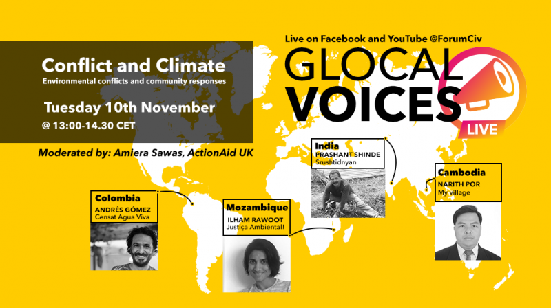 Glocal voices Conflict and Climate